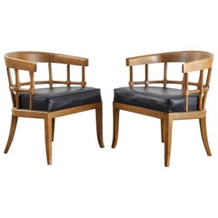 Pair or Edward Wormley for Drexel Style Barrel Back Armchairs