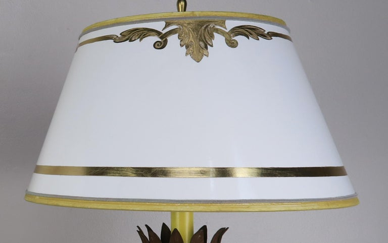 Hand-Carved Pair or French Carved Urn Lamps with Parchment Shades For Sale