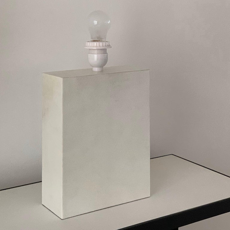 Contemporary Pair or Large 'Bloc' Parchment Table Lamps by Design Frères For Sale