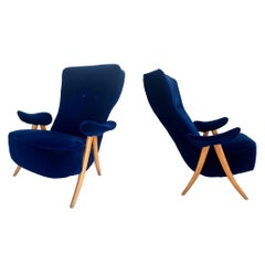 Pair or Sculptural Italian Chairs