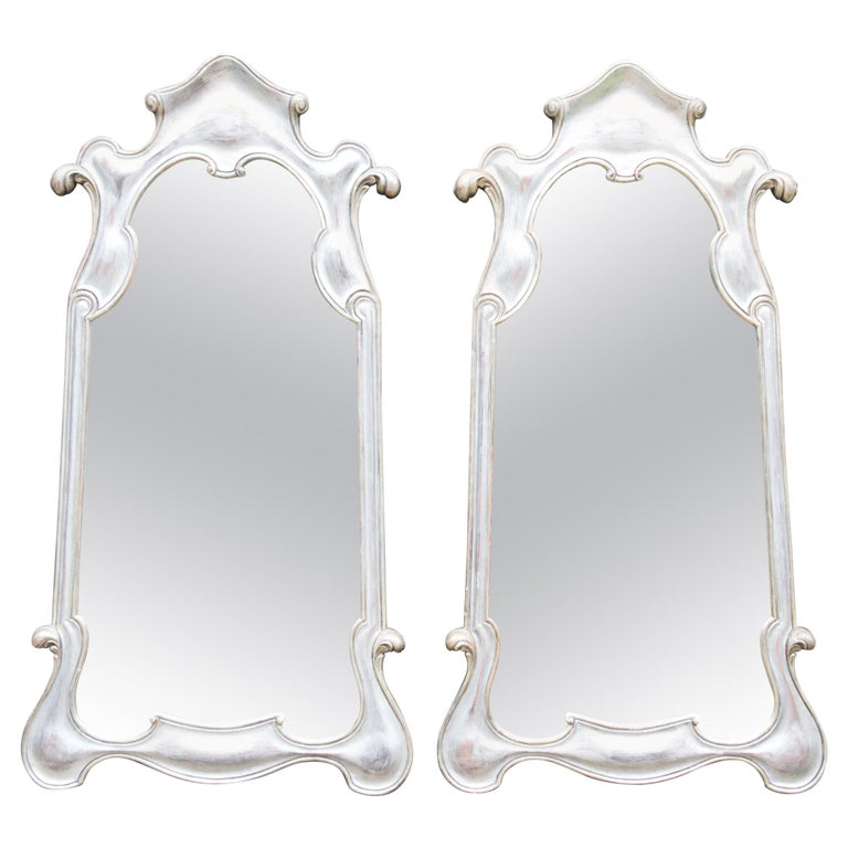 Pair or Single 1950s Silver Gilt Mirrors For Sale