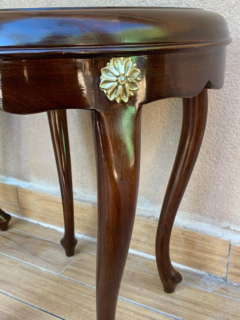 Pair or Single French Mahogany and Burl Low Side or Coffee Tables For Sale 6