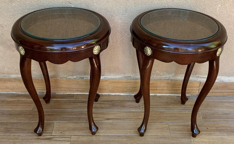 Art Deco Pair or Single French Mahogany and Burl Low Side or Coffee Tables For Sale
