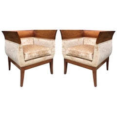 Pair of Orlando Diaz-Azcuy Club Chairs for HBF
