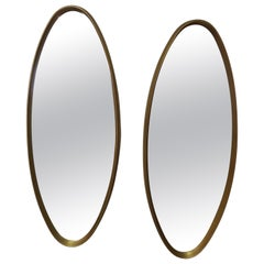 Pair of Oval Gilt 1960s Mirrors