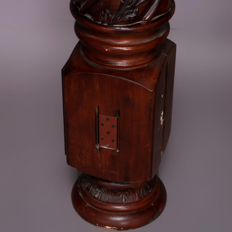 Pair of Oversized Mahogany and Composite Architectural Columns, 20th Century For Sale 4