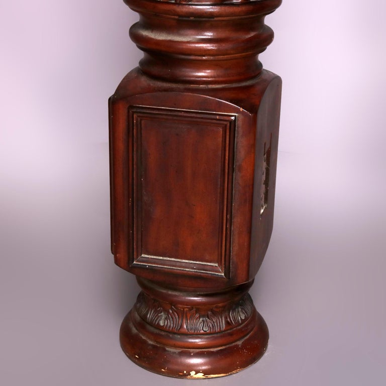 American Pair of Oversized Mahogany and Composite Architectural Columns, 20th Century For Sale