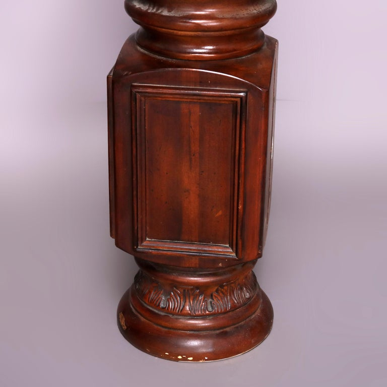 Pair of Oversized Mahogany and Composite Architectural Columns, 20th Century In Good Condition For Sale In Big Flats, NY
