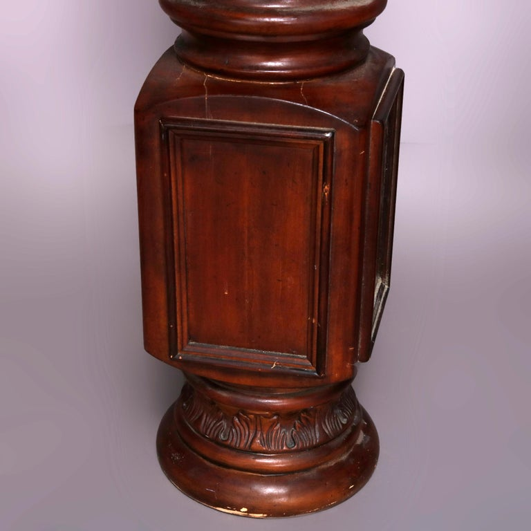 Composition Pair of Oversized Mahogany and Composite Architectural Columns, 20th Century For Sale