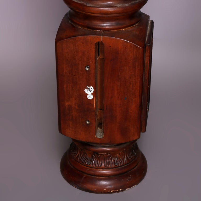 Pair of Oversized Mahogany and Composite Architectural Columns, 20th Century For Sale 2