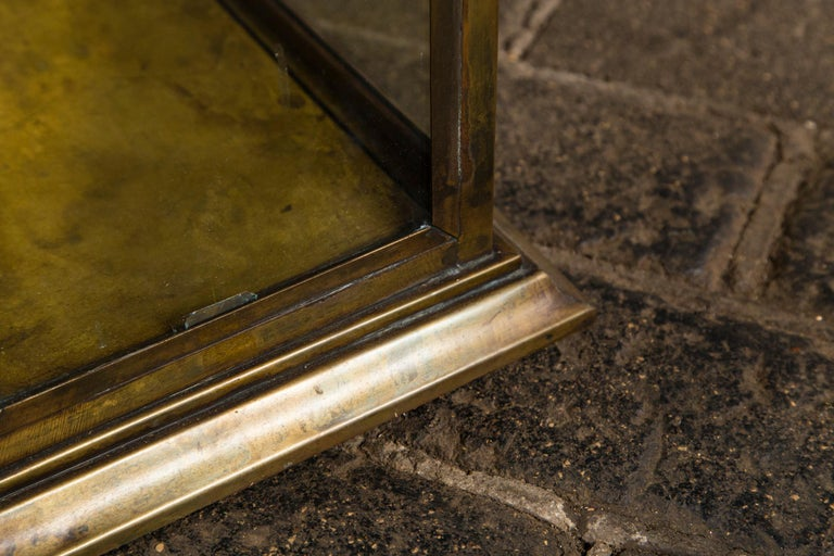 Pagoda Style Brass Vitrine For Sale 5