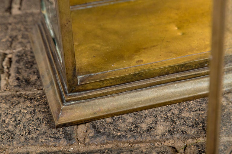 Pagoda Style Brass Vitrine For Sale 3