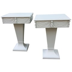 Pair of Painted Grosfeld House Nightstands