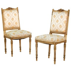 Pair of Painted Louis XVI Parlor Chairs