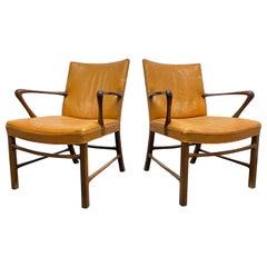 Pair Palle Suenson Armchairs for Jacob Kjaer