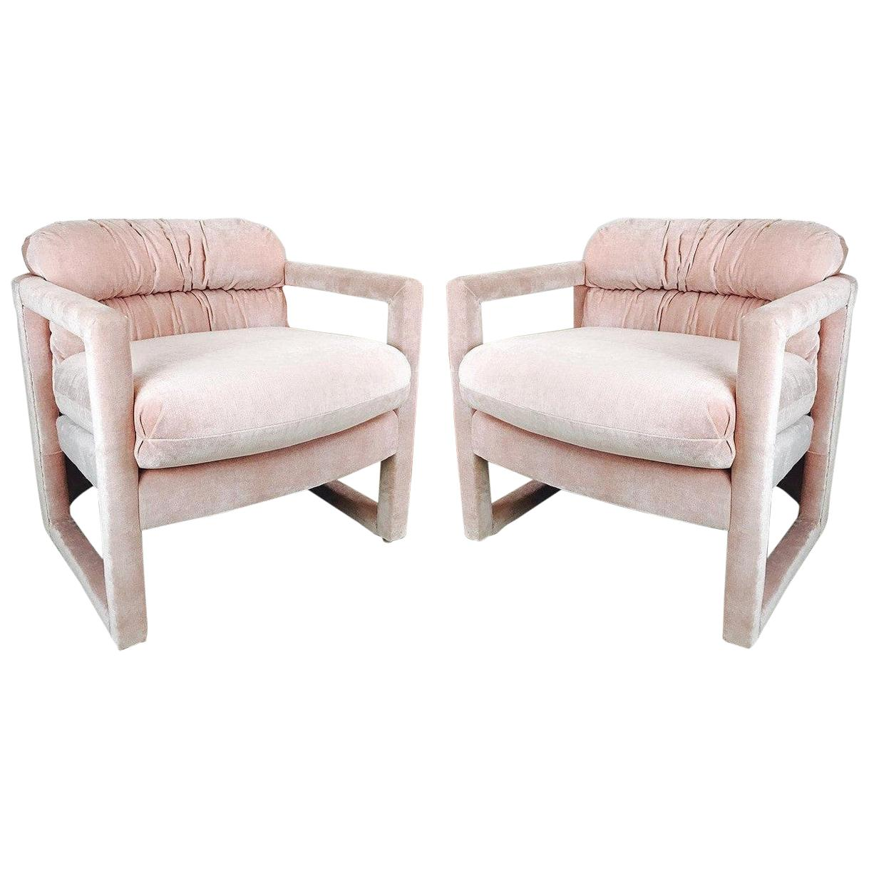 Pair of Parson Style Drexel Lounge Chairs