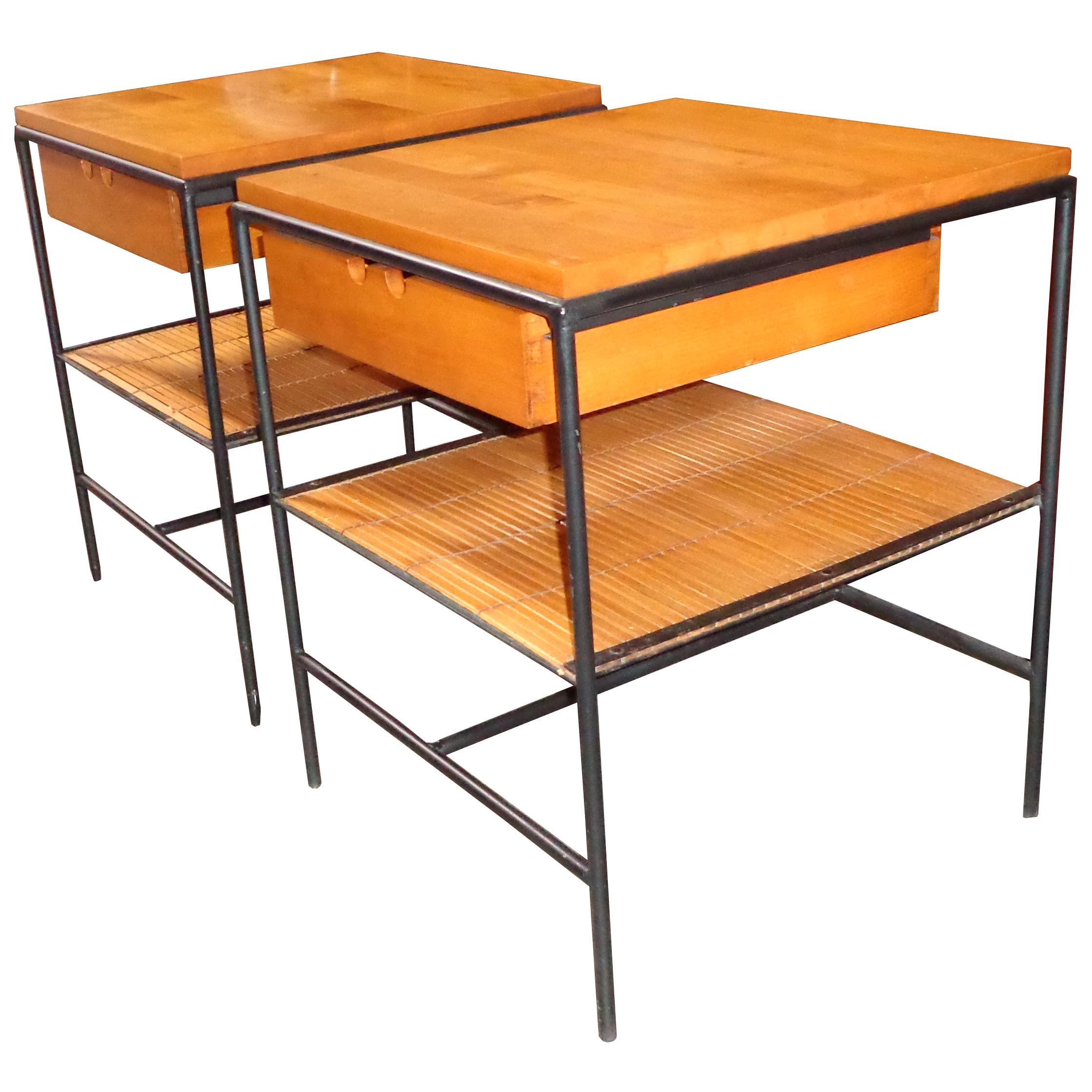 Pair Paul McCobb Winchedon Planner Group Side Tables/Nightstands #1572