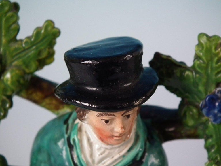 Pair of Pearlware Staffordshire 'Sports Man' & 'Archer' Figures For Sale 9
