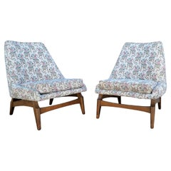 Pair Pearsall Style Lounge Chairs on Floating Bases