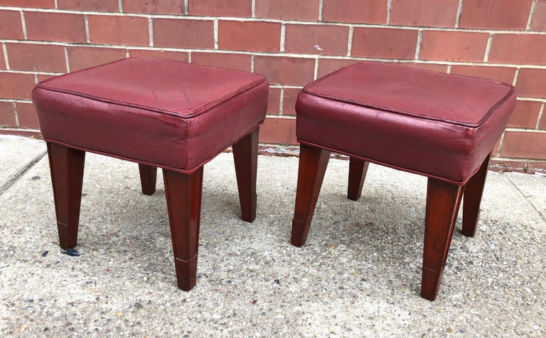 French Pair of Philippe Starck Custom Stools from the Clift Hotel, San Francisco For Sale