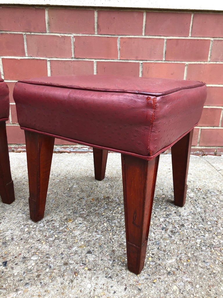 Pair of Philippe Starck Custom Stools from the Clift Hotel, San Francisco In Good Condition For Sale In Hudson, NY