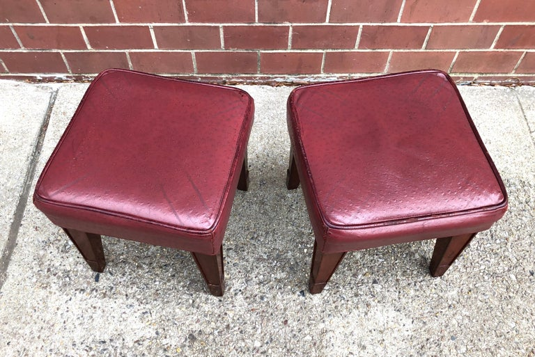 Pair of Philippe Starck Custom Stools from the Clift Hotel, San Francisco For Sale 1
