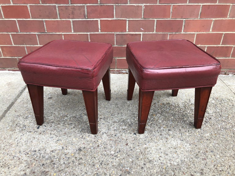 Pair of Philippe Starck Custom Stools from the Clift Hotel, San Francisco For Sale 2