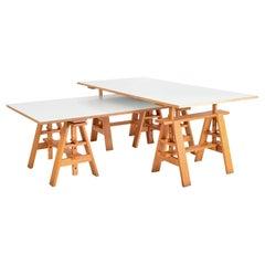 Postmodern Italian Leonardo Desks Work Tables Achille Castiglioni Zanotta, Pair