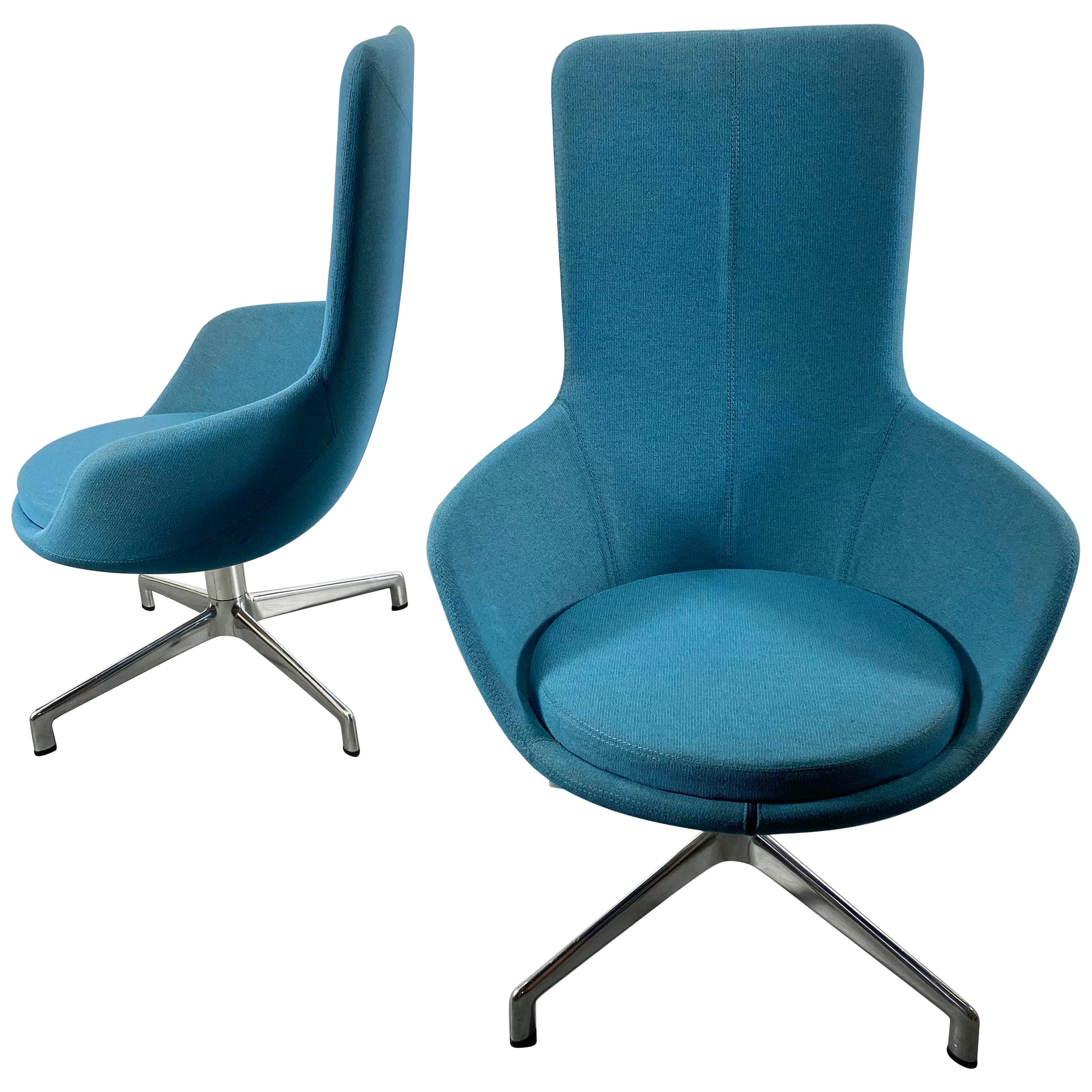 Pair of Post Modernist Lounge Chairs, Juxta Chair by Keilhauer
