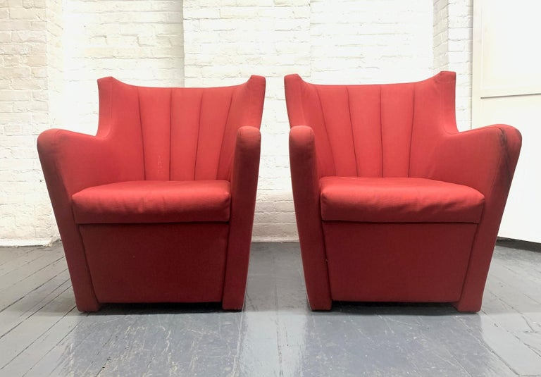 Modern Pair of Redele Lounge Chairs by Gerrit Rietveld for Cassina For Sale