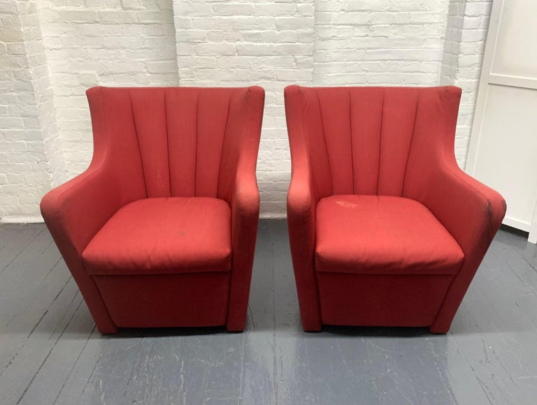Italian Pair of Redele Lounge Chairs by Gerrit Rietveld for Cassina For Sale