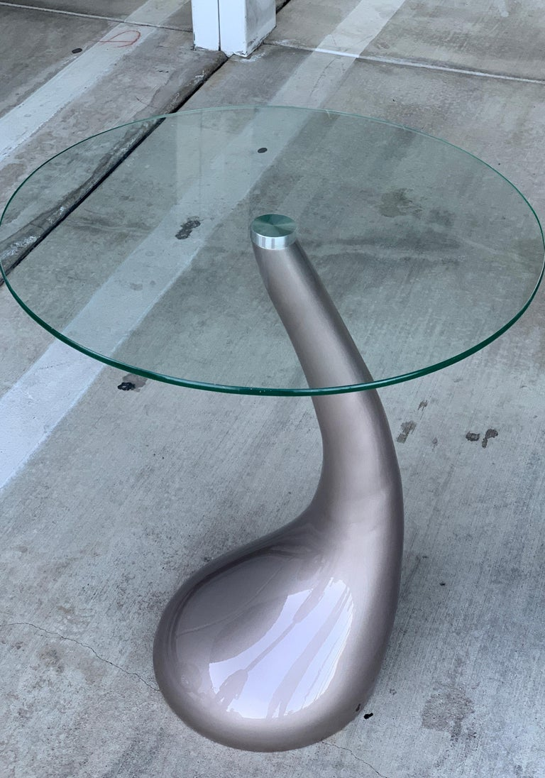Pair of Resin and Glass Top Tables For Sale 2