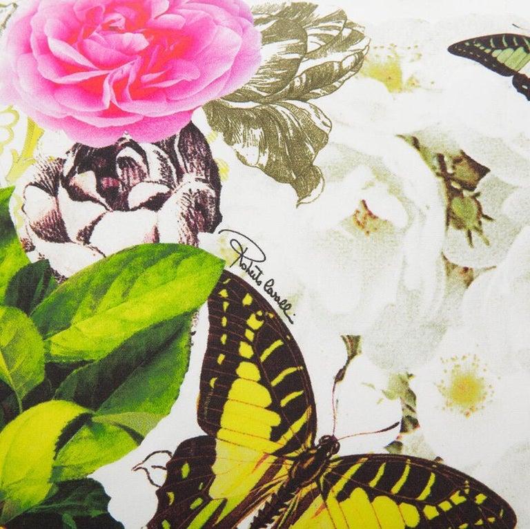 Roberto Cavalli Home Collection Flora & Fauna Signature Silk Throw Pillows, Pair For Sale 2