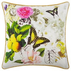 Roberto Cavalli Home Collection Flora & Fauna Signature Silk Throw Pillows, Pair