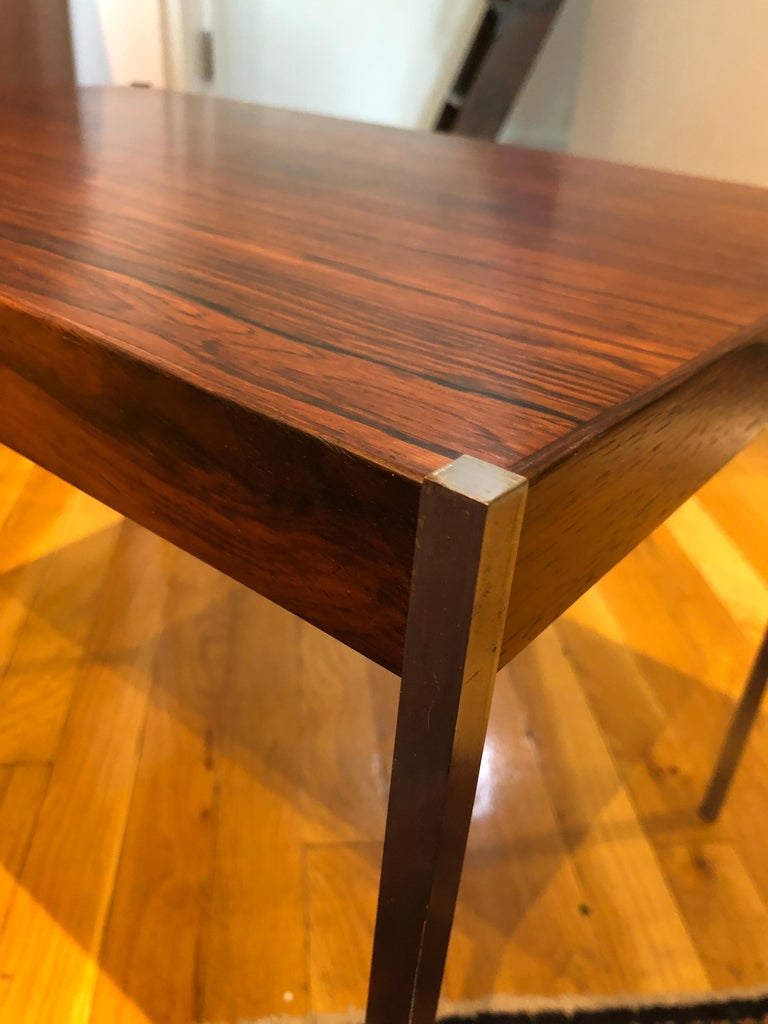Pair of Rosewood and Aluminum Sidetables by Luxus For Sale 2