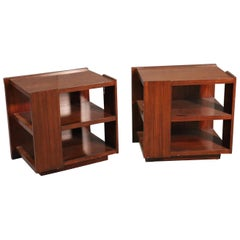 Pair Rosewood Mid-Century Modern Style Ralph Lauren End Tables