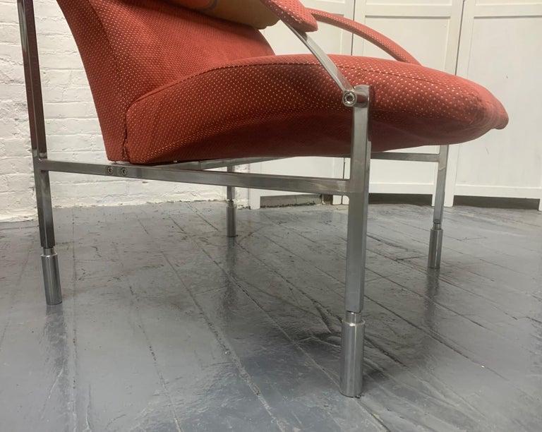 Italian Pair of Saporiti Lounge Chairs For Sale