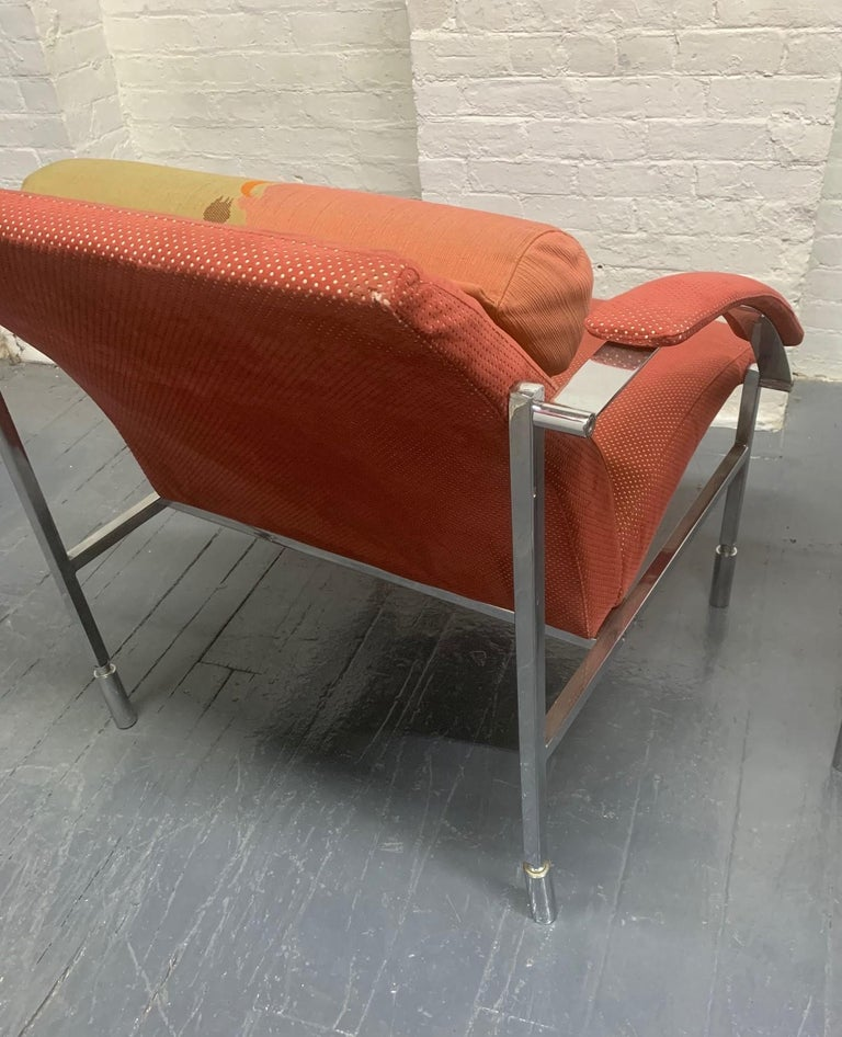 Late 20th Century Pair of Saporiti Lounge Chairs For Sale