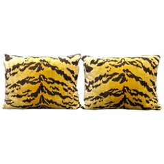 "Pair Scalamandre ""Le Tigre"" Pillows"