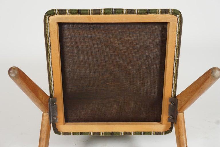 Scandinavian Modern Scissor or Sawbuck Armchairs in Manner of Hans Wegner, Pair For Sale 4