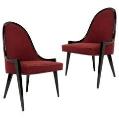 Pair of Sculptural Harvey Probber Model 1053 Gondola Slipper Chairs