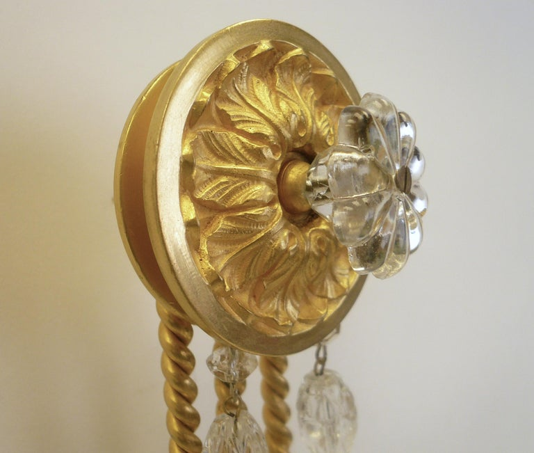 Signed E. F. Caldwell Gilt Bronze Classical Style Lion and Tassel Sconces, Pair For Sale 5