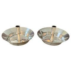 Pair of Silver Plate Dansk Candlesticks