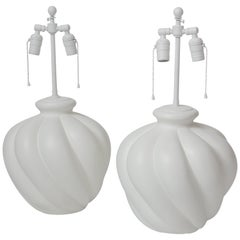Pair of Sirmos Gourd Shaped Lamps
