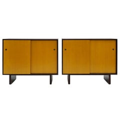 Pair Sliding Door Dressers Chests Cabinets by T H Robsjohn-Gibbings & Widdicomb