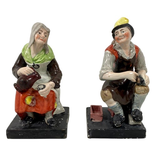 Pair of Staffirdshire Figures 'Jobson & Nell', Enoch Wood, circa 1820