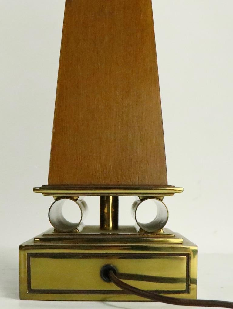 Brass Pair of Stiffel Lamps After Parzinger For Sale