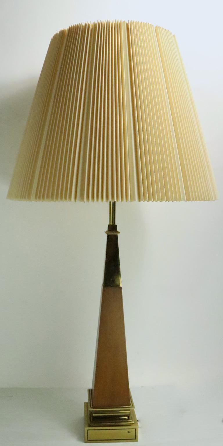 Pair of Stiffel Lamps After Parzinger For Sale 2