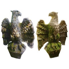 Pair Stone Eagles, England, circa 1820