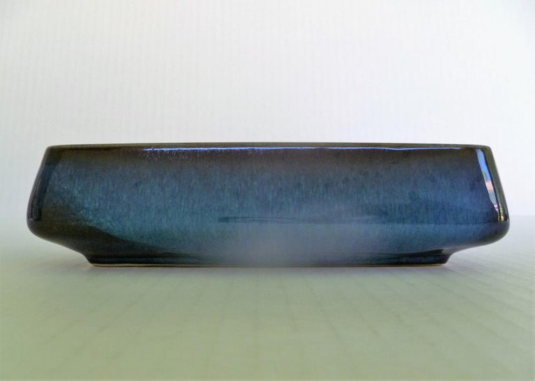 Ceramic Pair of Stoneware Scandinavian Modern Lagun Vessels Sven Jonson for Gustavsberg For Sale